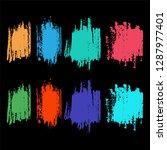 abstract brush colour splashes... | Shutterstock .eps vector #1287977401