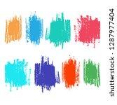 abstract brush colour splashes... | Shutterstock .eps vector #1287977404