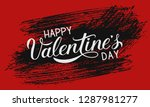 happy valentine s day... | Shutterstock .eps vector #1287981277
