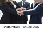 close up.a group of business... | Shutterstock . vector #1288017037