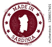 made in sardinia stamp. grunge... | Shutterstock .eps vector #1288017601