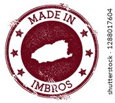 made in imbros stamp. grunge... | Shutterstock .eps vector #1288017604