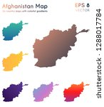 map of afghanistan with... | Shutterstock .eps vector #1288017784