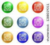 power off button icons vector 9 ...   Shutterstock .eps vector #1288019311