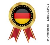 gold button with germany flag...   Shutterstock .eps vector #1288033471