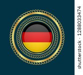 gold button with germany flag...   Shutterstock .eps vector #1288033474