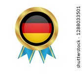 gold button with germany flag...   Shutterstock .eps vector #1288033501