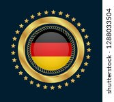 gold button with germany flag...   Shutterstock .eps vector #1288033504
