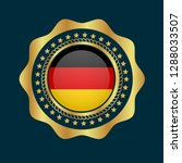 gold button with germany flag...   Shutterstock .eps vector #1288033507
