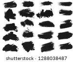 black ink grunge brush set... | Shutterstock . vector #1288038487