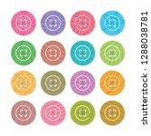 colorful sewed clothes buttons...   Shutterstock .eps vector #1288038781
