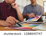 graphic designers choose colors ... | Shutterstock . vector #1288045747