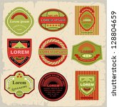 vintage and retro design... | Shutterstock .eps vector #128804659