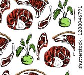 vector seamless pattern with... | Shutterstock .eps vector #1288046791