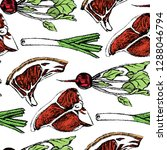 vector seamless pattern with... | Shutterstock .eps vector #1288046794