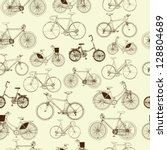 Bicycles  Seamless Pattern