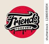 friends forever text slogan... | Shutterstock .eps vector #1288055854