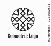 round abstract geometric logo... | Shutterstock .eps vector #1288060681