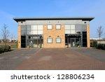 exterior of large modern office ... | Shutterstock . vector #128806234