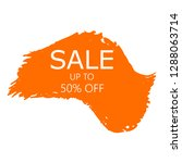 sale 50  off sign over art... | Shutterstock .eps vector #1288063714