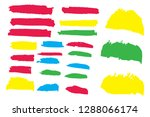 collection of hand drawn... | Shutterstock .eps vector #1288066174