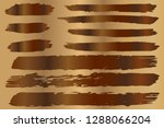 collection of hand drawn brown... | Shutterstock .eps vector #1288066204