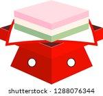 three color diamond shaped rice ... | Shutterstock .eps vector #1288076344