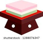 three color diamond shaped rice ... | Shutterstock .eps vector #1288076347