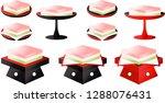 gradation three color diamond... | Shutterstock .eps vector #1288076431