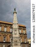 san domenico obelisk in naples... | Shutterstock . vector #1288079527