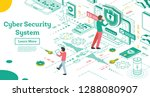 outline cyber security concept. ... | Shutterstock .eps vector #1288080907