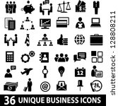 set of 36 business icons. | Shutterstock .eps vector #128808211