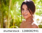 happy young woman smiling to... | Shutterstock . vector #1288082941