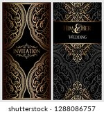 wedding invitation card with... | Shutterstock .eps vector #1288086757