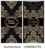 black and gold luxury wedding... | Shutterstock .eps vector #1288086781