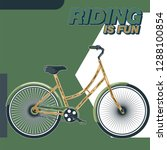 bicycle advertising poster... | Shutterstock .eps vector #1288100854
