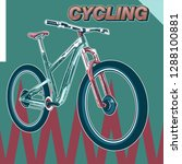 bicycle advertising poster... | Shutterstock .eps vector #1288100881