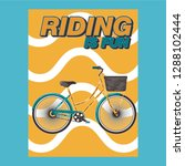 bicycle race contest poster... | Shutterstock .eps vector #1288102444