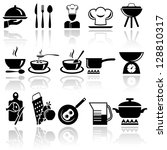 kitchen and cooking icon set.... | Shutterstock .eps vector #128810317