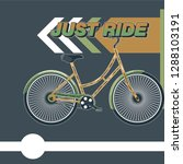 bicycle. advertising poster.... | Shutterstock .eps vector #1288103191