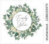 wedding invite  invitation ... | Shutterstock .eps vector #1288105474