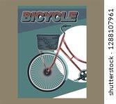 bicycle wheel shirt. life is... | Shutterstock .eps vector #1288107961