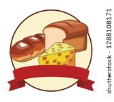 bread and cheese | Shutterstock .eps vector #1288108171