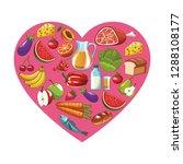 healthy food design | Shutterstock .eps vector #1288108177