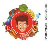 healthy food design | Shutterstock .eps vector #1288108201
