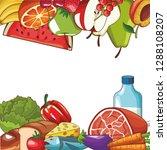 healthy food design | Shutterstock .eps vector #1288108207