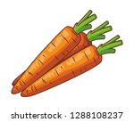 carrot isolated icon | Shutterstock .eps vector #1288108237