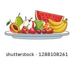 fruit tray icon | Shutterstock .eps vector #1288108261