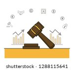 finance and trading cartoon | Shutterstock .eps vector #1288115641