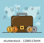 finance and trading cartoon | Shutterstock .eps vector #1288115644